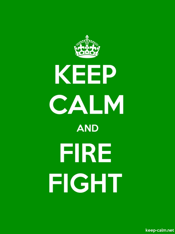 KEEP CALM AND FIRE FIGHT - white/green - Default (600x800)