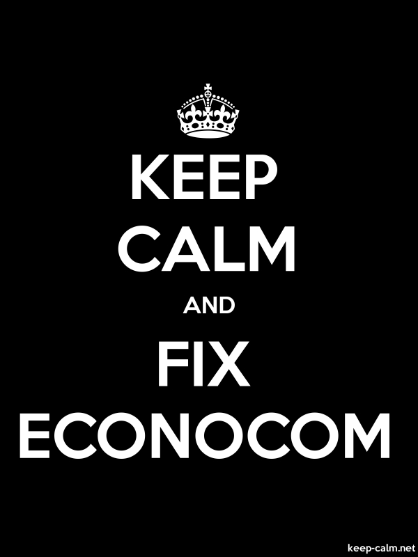 KEEP CALM AND FIX ECONOCOM - white/black - Default (600x800)