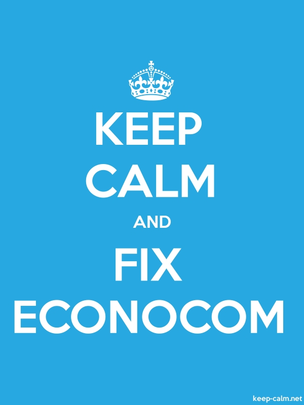 KEEP CALM AND FIX ECONOCOM - white/blue - Default (600x800)