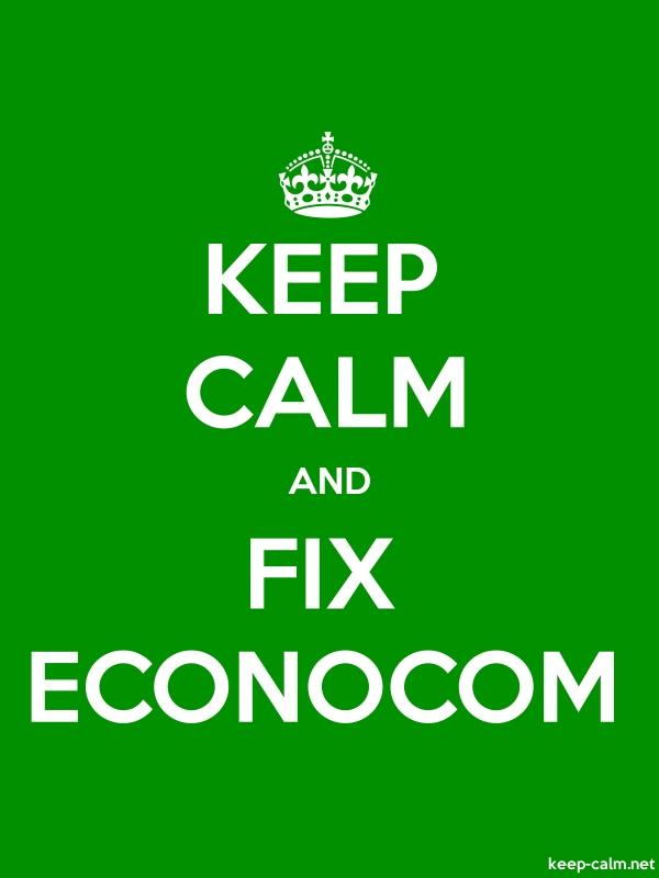 KEEP CALM AND FIX ECONOCOM - white/green - Default (600x800)