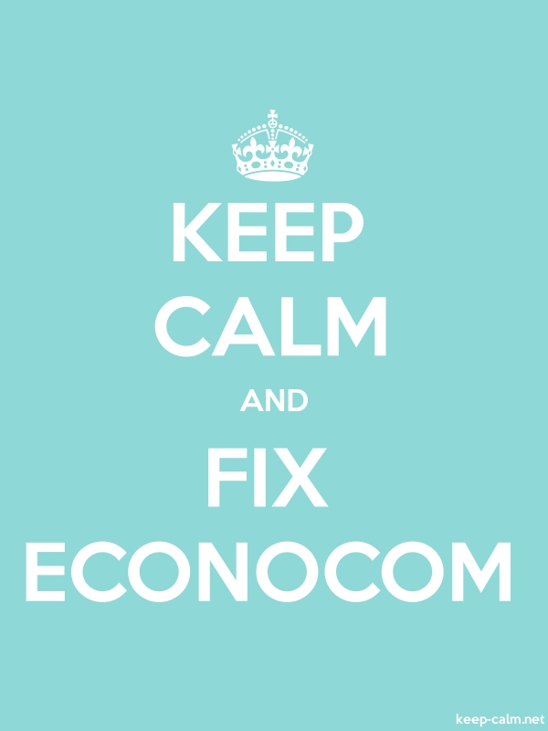 KEEP CALM AND FIX ECONOCOM - white/lightblue - Default (600x800)