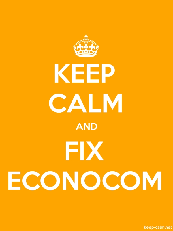KEEP CALM AND FIX ECONOCOM - white/orange - Default (600x800)