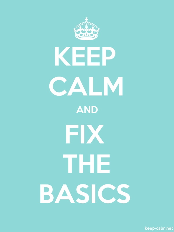 KEEP CALM AND FIX THE BASICS - white/lightblue - Default (600x800)