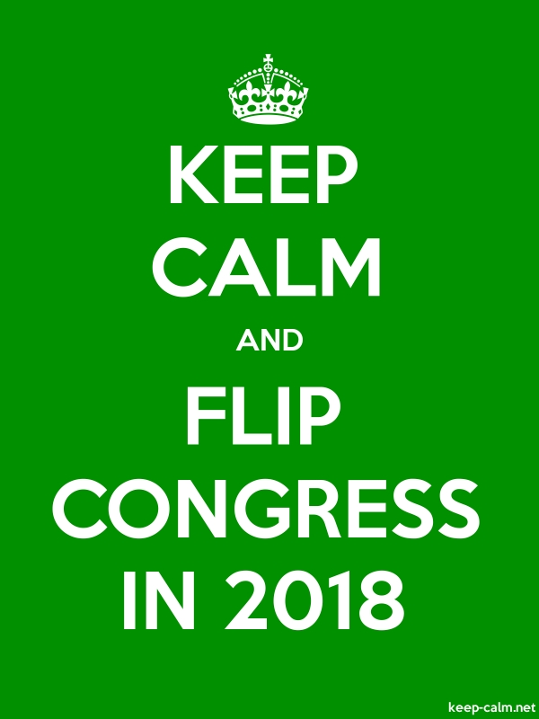 KEEP CALM AND FLIP CONGRESS IN 2018 - white/green - Default (600x800)