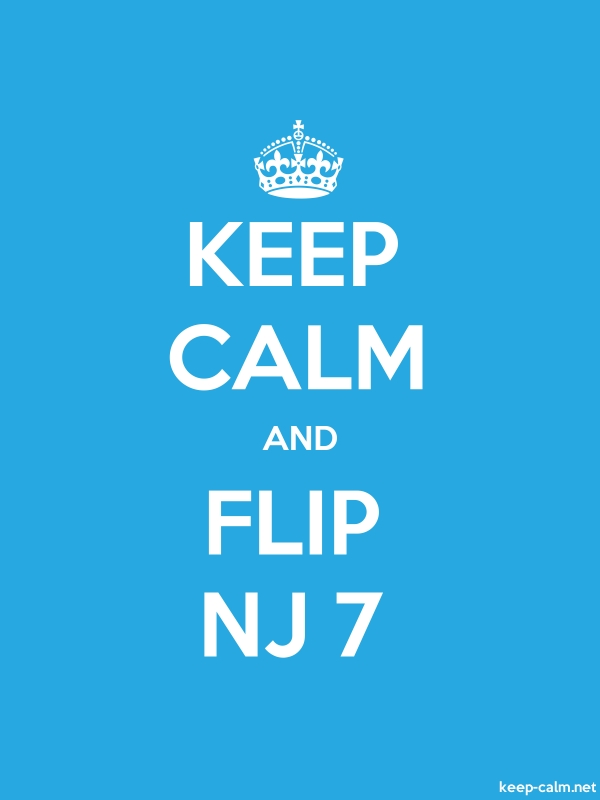 KEEP CALM AND FLIP NJ 7 - white/blue - Default (600x800)