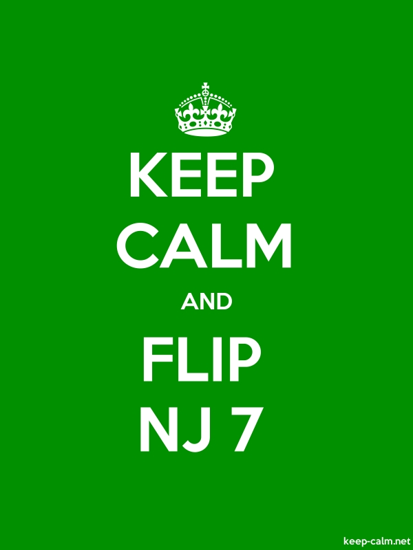KEEP CALM AND FLIP NJ 7 - white/green - Default (600x800)