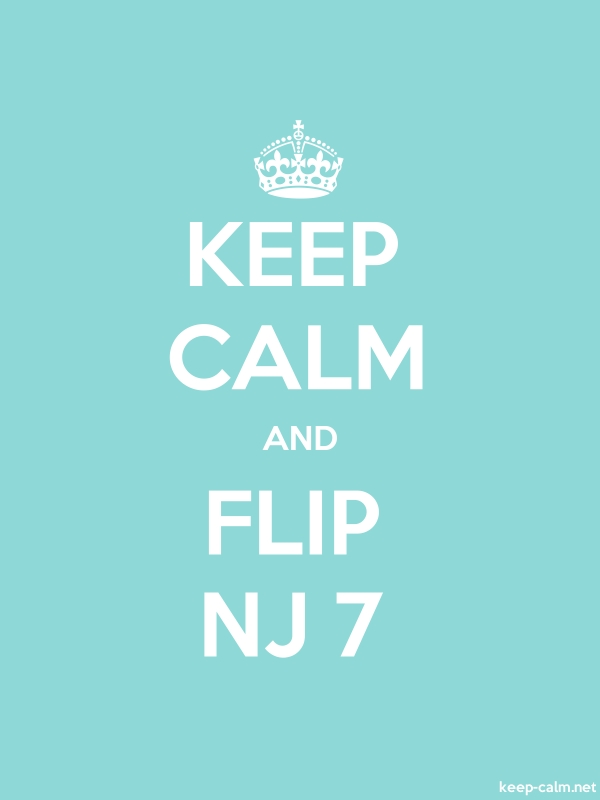 KEEP CALM AND FLIP NJ 7 - white/lightblue - Default (600x800)