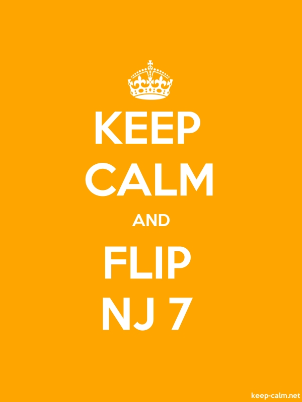 KEEP CALM AND FLIP NJ 7 - white/orange - Default (600x800)