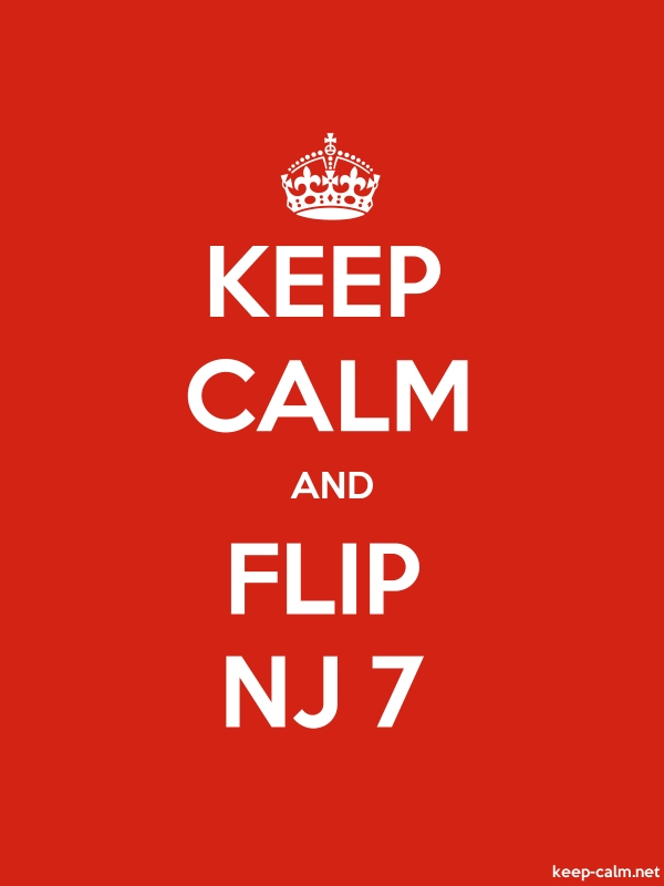 KEEP CALM AND FLIP NJ 7 - white/red - Default (600x800)