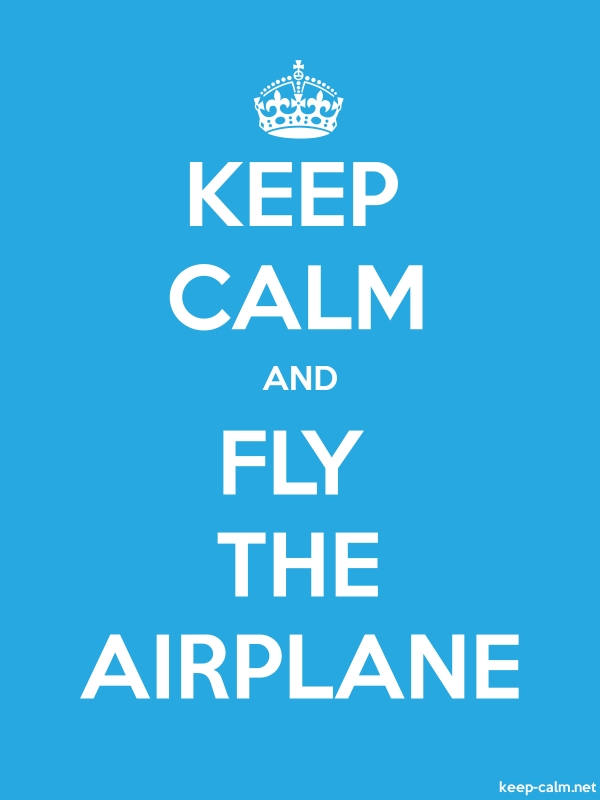 KEEP CALM AND FLY THE AIRPLANE - white/blue - Default (600x800)