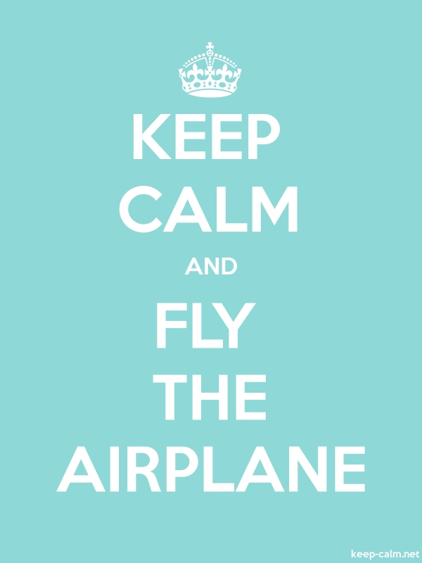 KEEP CALM AND FLY THE AIRPLANE - white/lightblue - Default (600x800)