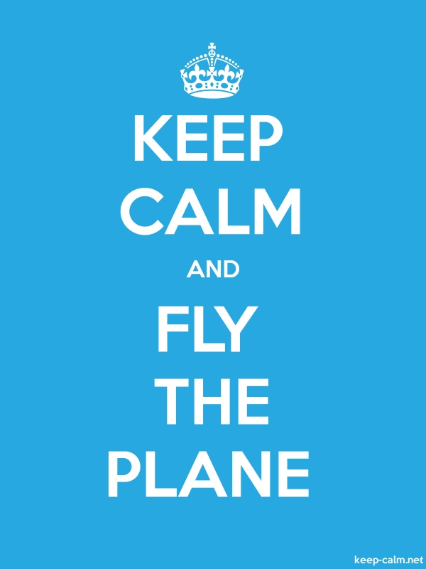 KEEP CALM AND FLY THE PLANE - white/blue - Default (600x800)
