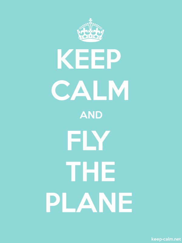 KEEP CALM AND FLY THE PLANE - white/lightblue - Default (600x800)