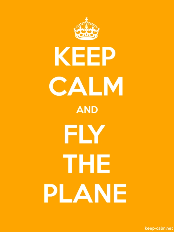 KEEP CALM AND FLY THE PLANE - white/orange - Default (600x800)