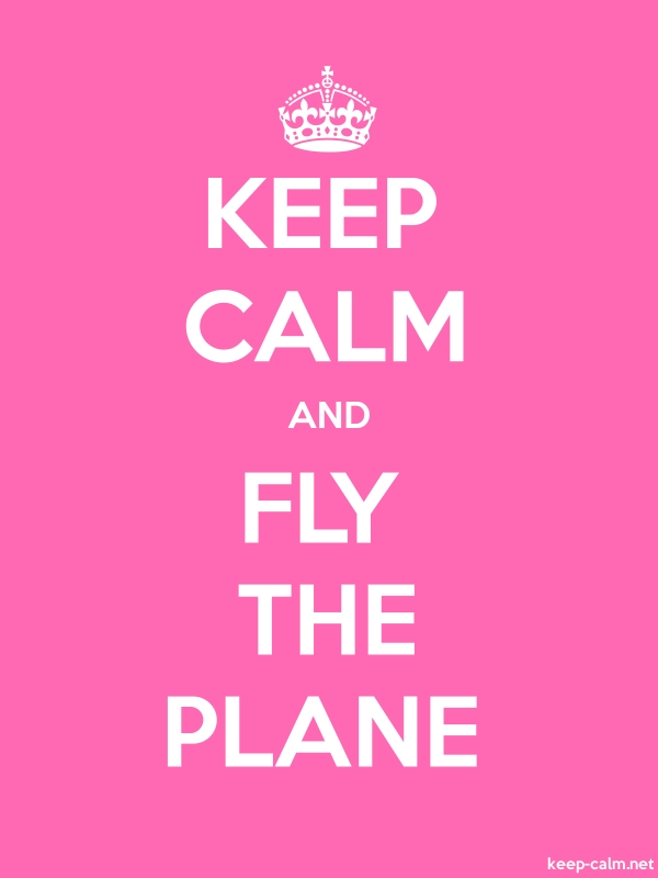 KEEP CALM AND FLY THE PLANE - white/pink - Default (600x800)