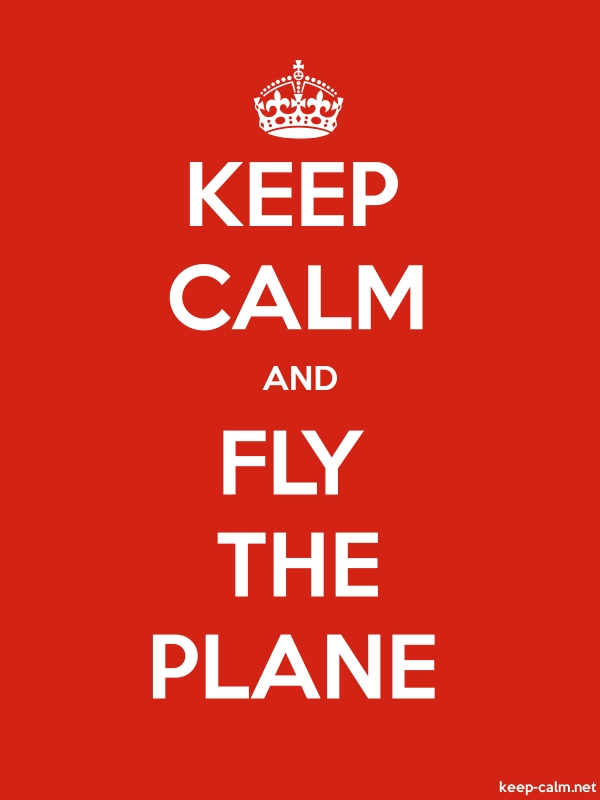 KEEP CALM AND FLY THE PLANE - white/red - Default (600x800)