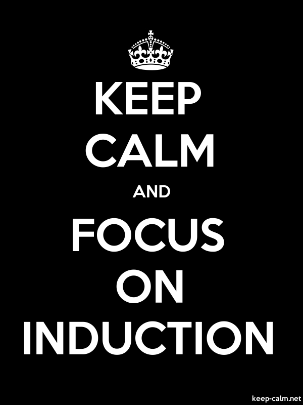 KEEP CALM AND FOCUS ON INDUCTION - white/black - Default (600x800)
