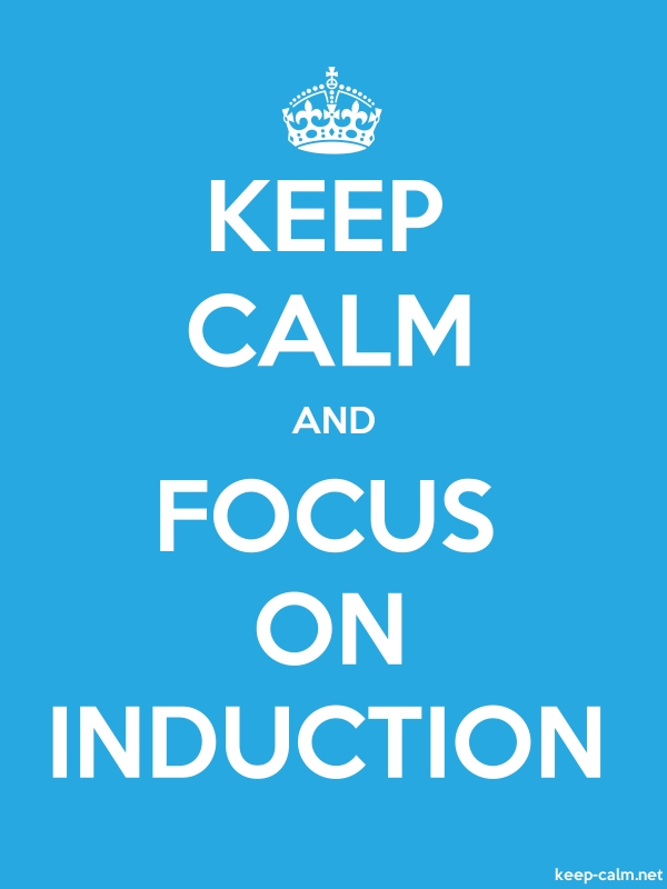 KEEP CALM AND FOCUS ON INDUCTION - white/blue - Default (600x800)