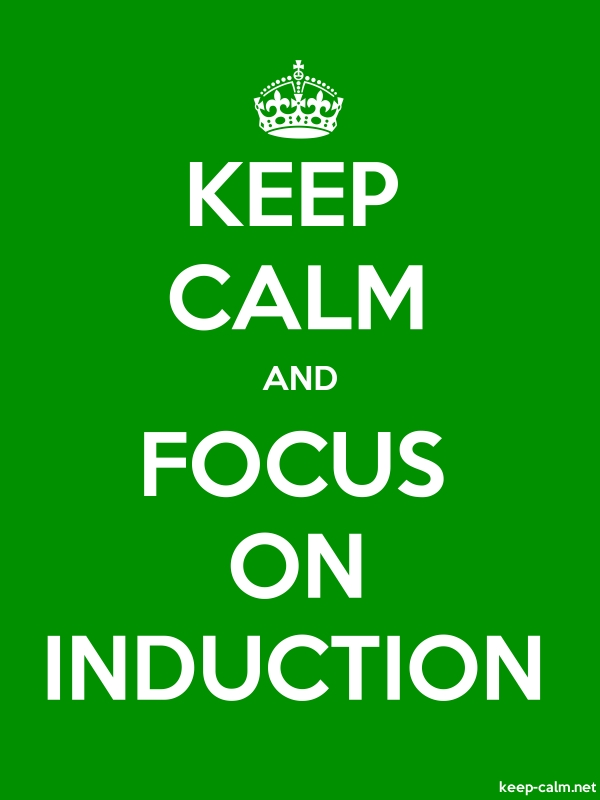 KEEP CALM AND FOCUS ON INDUCTION - white/green - Default (600x800)