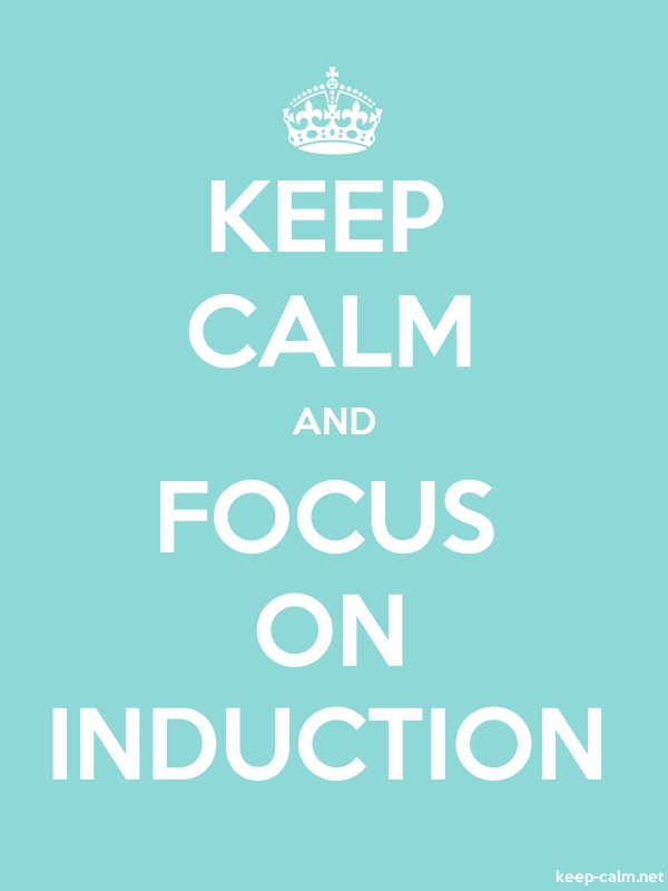 KEEP CALM AND FOCUS ON INDUCTION - white/lightblue - Default (600x800)