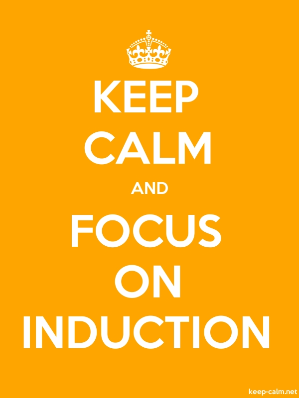 KEEP CALM AND FOCUS ON INDUCTION - white/orange - Default (600x800)