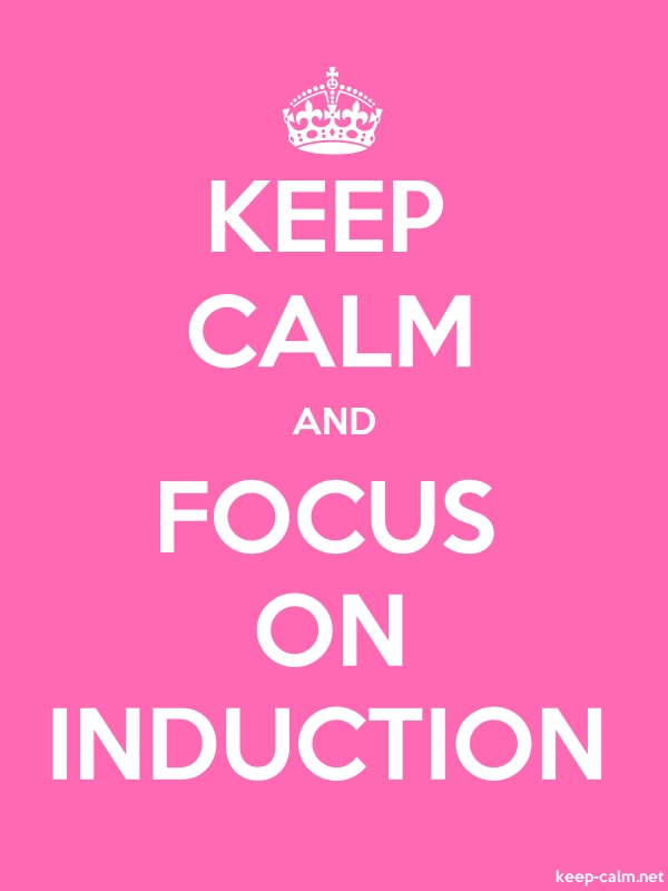 KEEP CALM AND FOCUS ON INDUCTION - white/pink - Default (600x800)