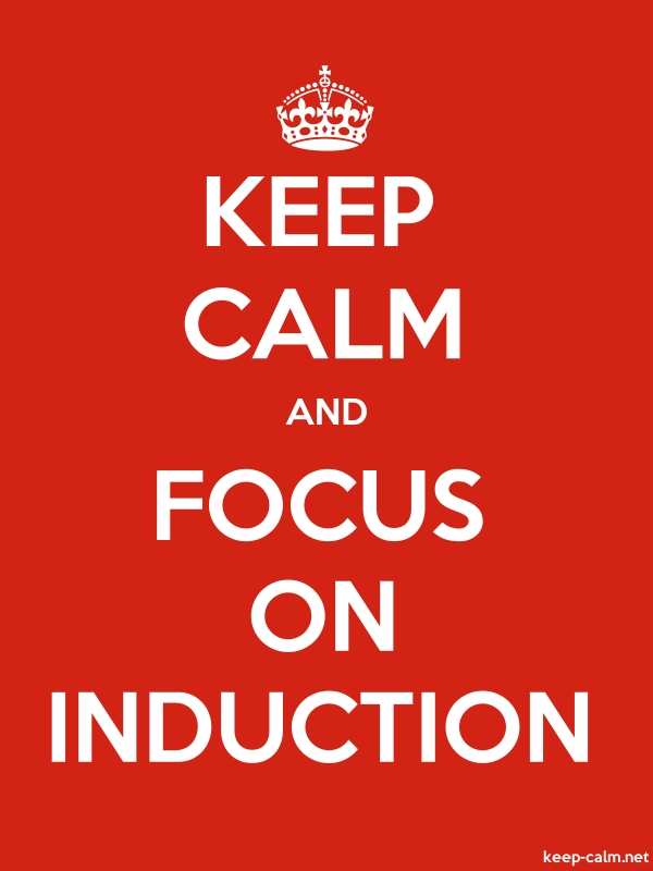 KEEP CALM AND FOCUS ON INDUCTION - white/red - Default (600x800)
