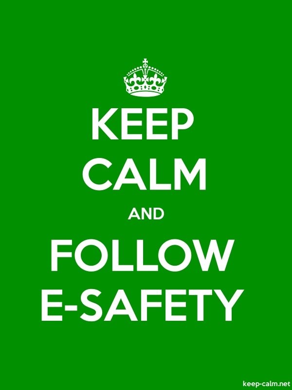 KEEP CALM AND FOLLOW E-SAFETY - white/green - Default (600x800)