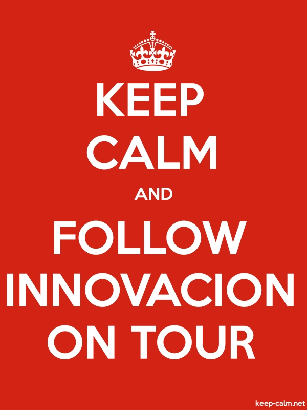 KEEP CALM AND FOLLOW INNOVACION ON TOUR - white/red - Default (600x800)