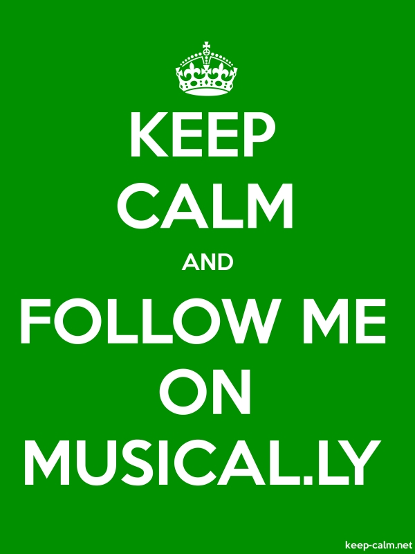KEEP CALM AND FOLLOW ME ON MUSICAL.LY - white/green - Default (600x800)