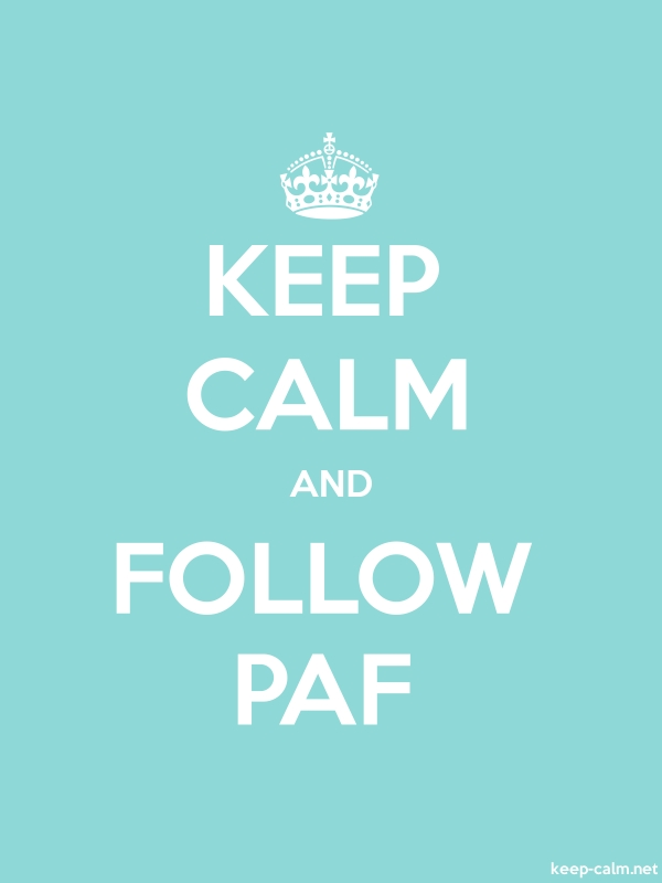 KEEP CALM AND FOLLOW PAF - white/lightblue - Default (600x800)