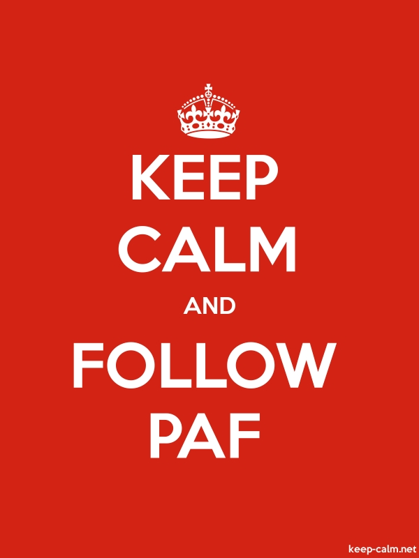 KEEP CALM AND FOLLOW PAF - white/red - Default (600x800)