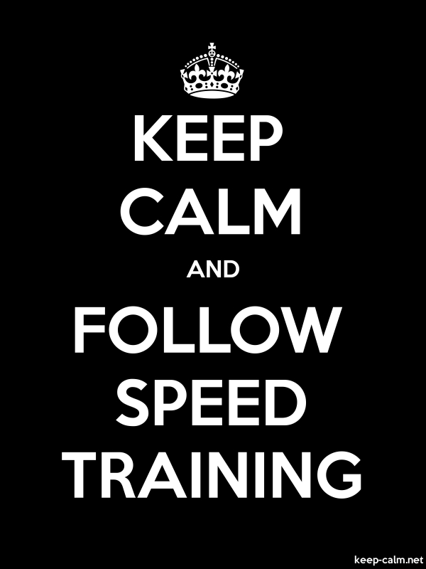 KEEP CALM AND FOLLOW SPEED TRAINING - white/black - Default (600x800)