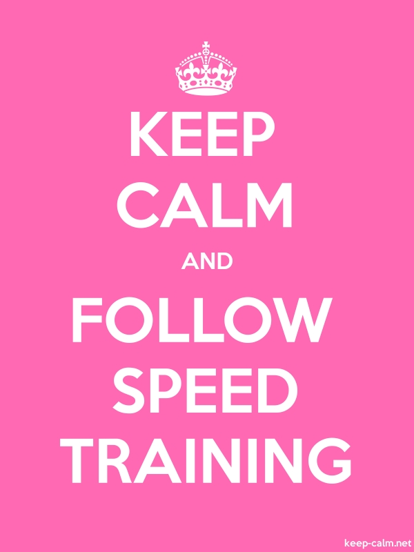 KEEP CALM AND FOLLOW SPEED TRAINING - white/pink - Default (600x800)