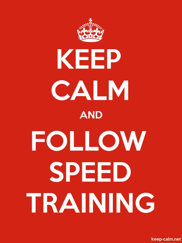 KEEP CALM AND FOLLOW SPEED TRAINING - white/red - Default (600x800)