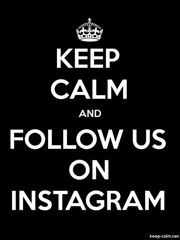 KEEP CALM AND FOLLOW US ON INSTAGRAM - white/black - Default (600x800)