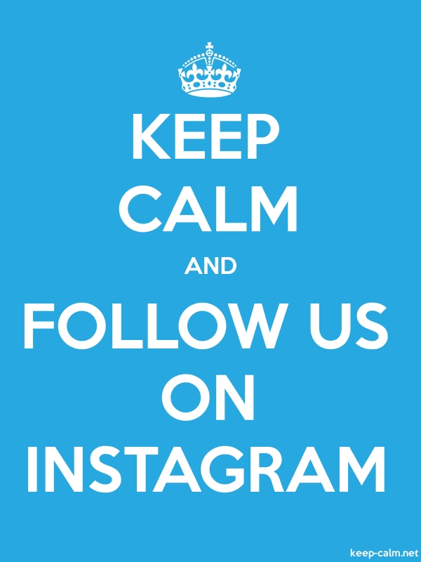 KEEP CALM AND FOLLOW US ON INSTAGRAM - white/blue - Default (600x800)