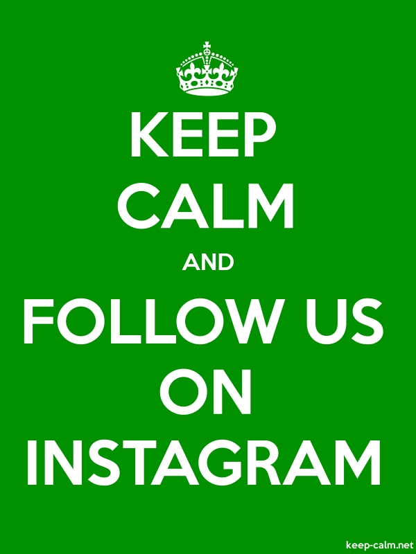 KEEP CALM AND FOLLOW US ON INSTAGRAM - white/green - Default (600x800)