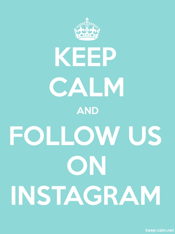 KEEP CALM AND FOLLOW US ON INSTAGRAM - white/lightblue - Default (600x800)