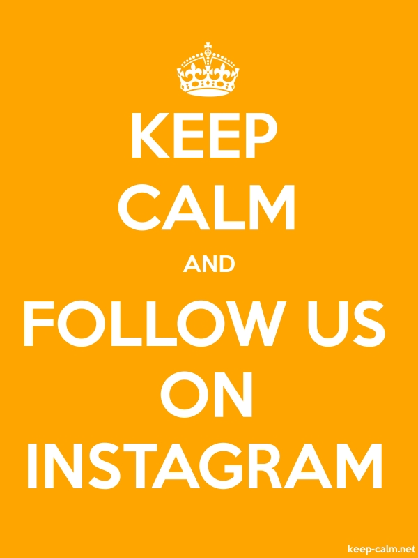 KEEP CALM AND FOLLOW US ON INSTAGRAM - white/orange - Default (600x800)