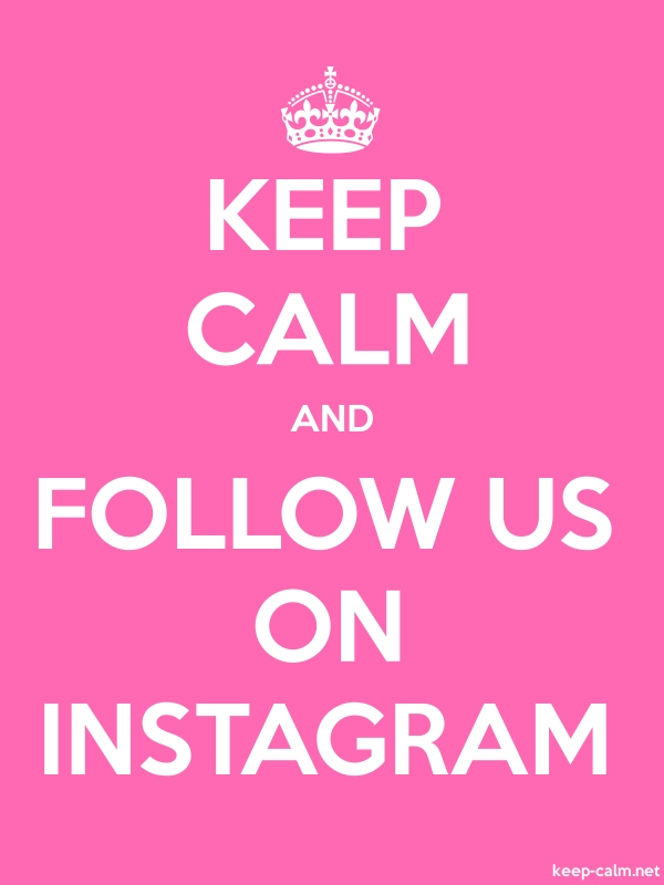 KEEP CALM AND FOLLOW US ON INSTAGRAM - white/pink - Default (600x800)
