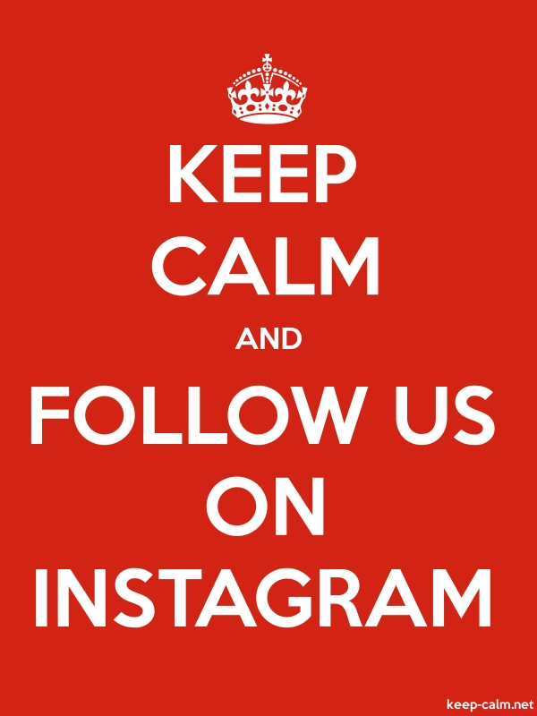 KEEP CALM AND FOLLOW US ON INSTAGRAM - white/red - Default (600x800)