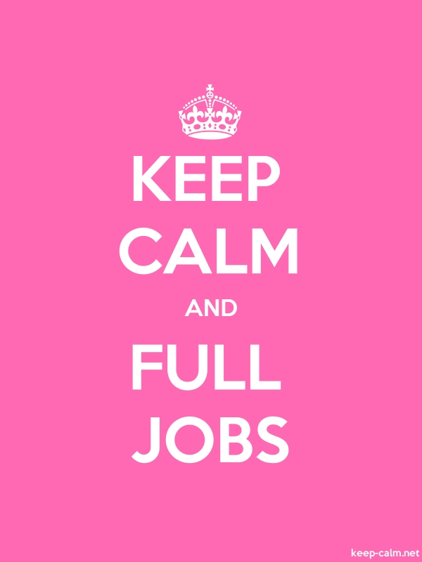 KEEP CALM AND FULL JOBS - white/pink - Default (600x800)