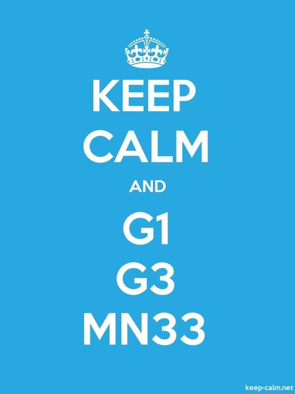 KEEP CALM AND G1 G3 MN33 - white/blue - Default (600x800)
