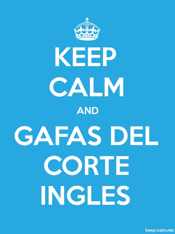 KEEP CALM AND GAFAS DEL CORTE INGLES - white/blue - Default (600x800)