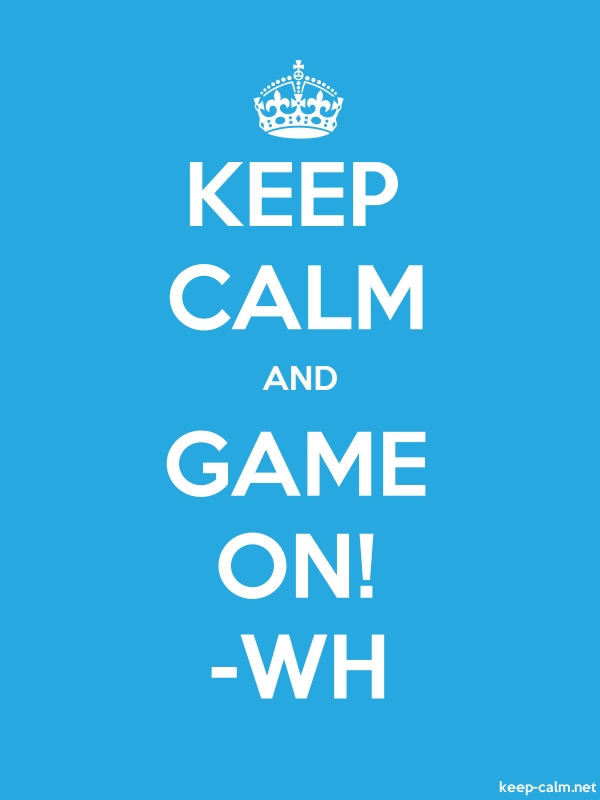 KEEP CALM AND GAME ON! -WH - white/blue - Default (600x800)