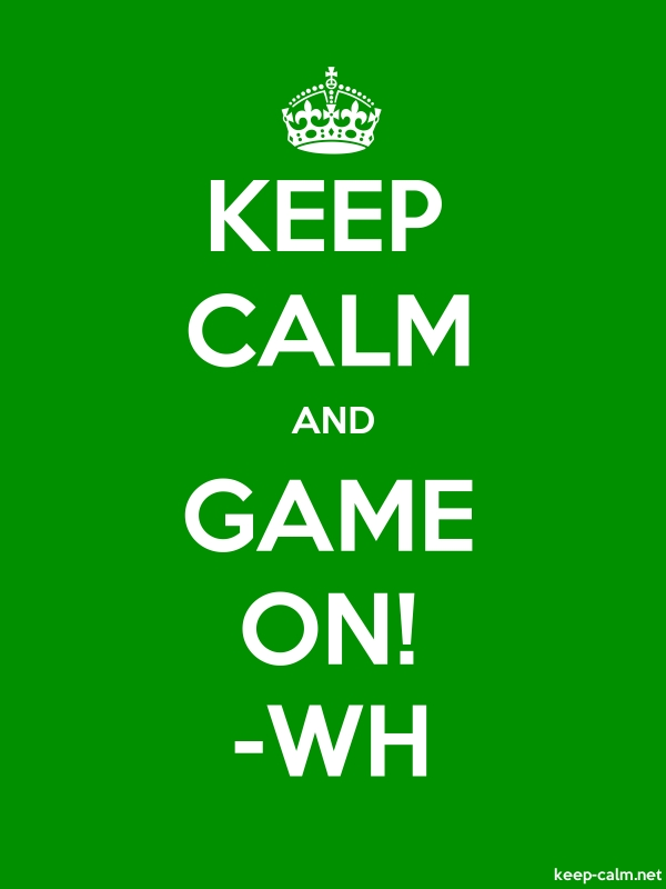 KEEP CALM AND GAME ON! -WH - white/green - Default (600x800)