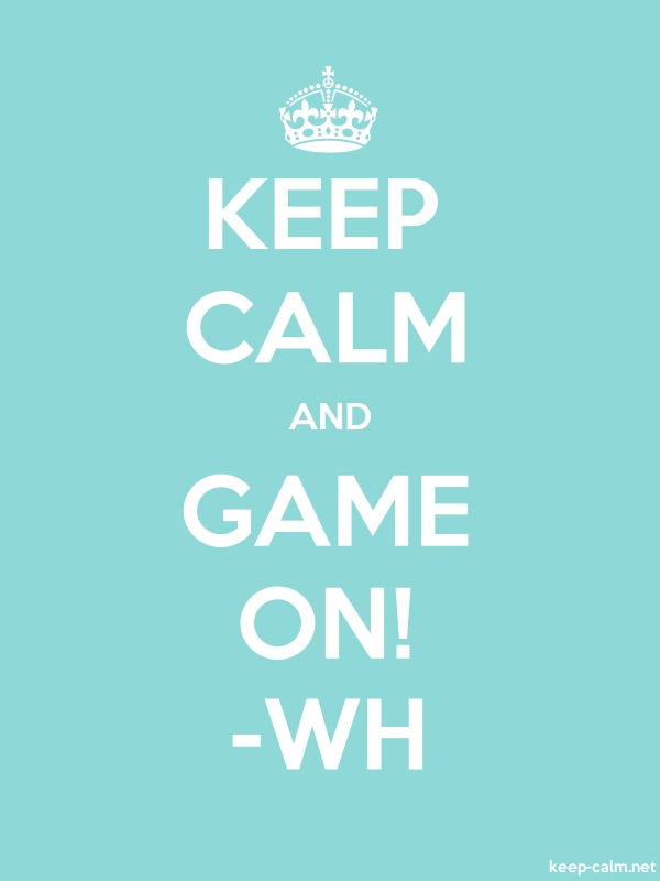 KEEP CALM AND GAME ON! -WH - white/lightblue - Default (600x800)