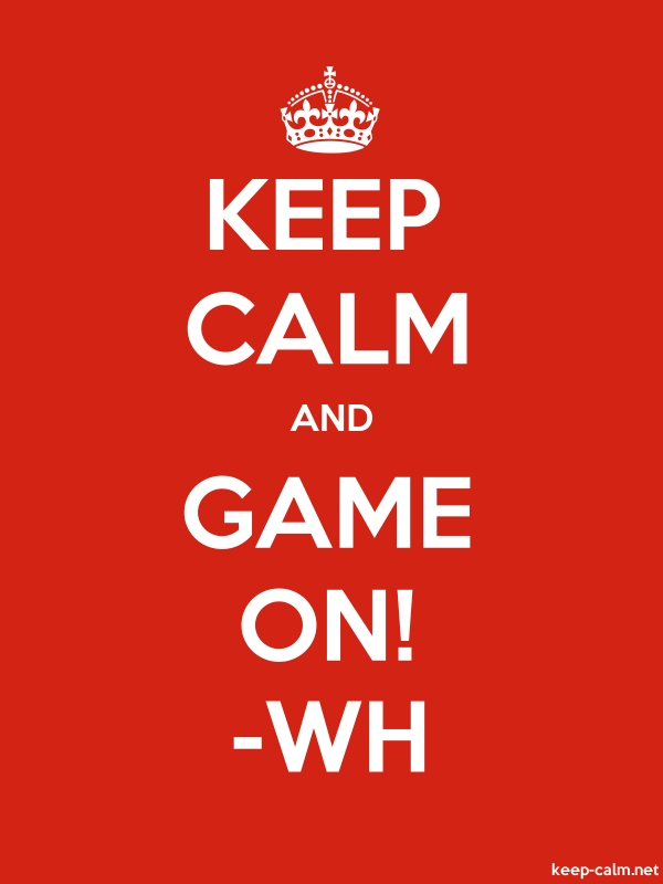 KEEP CALM AND GAME ON! -WH - white/red - Default (600x800)