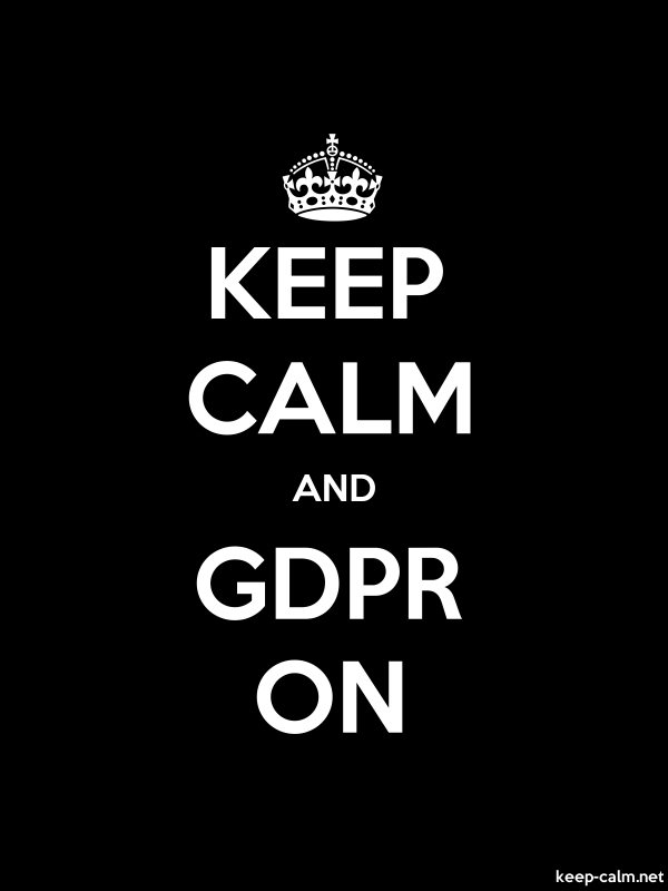 KEEP CALM AND GDPR ON - white/black - Default (600x800)